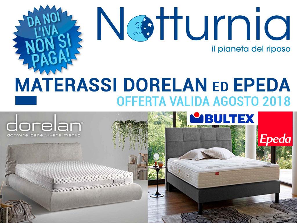 Offerte Materassi Memory Dorelan.Notturnia Materassi In Offerta Dorelan Bultex Epeda Da Notturnia